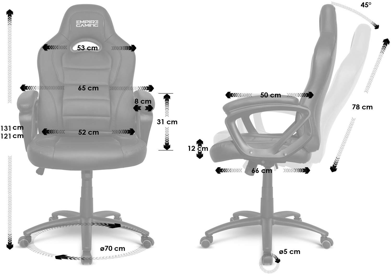 Fauteuil Empire Gaming Racing 500